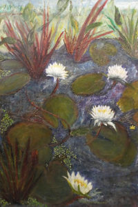 Life Up Close on the Pond, Oil by Nancy Wing, 36in x 24in, $480 (May 2018)