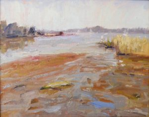 Morning Tide, Oil by Lynn Mehta, Size 11in x 14in (October 2013)