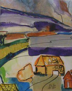 Golden Cabin, Mixed media by Rita Rose and Rae Rose (September 2013)