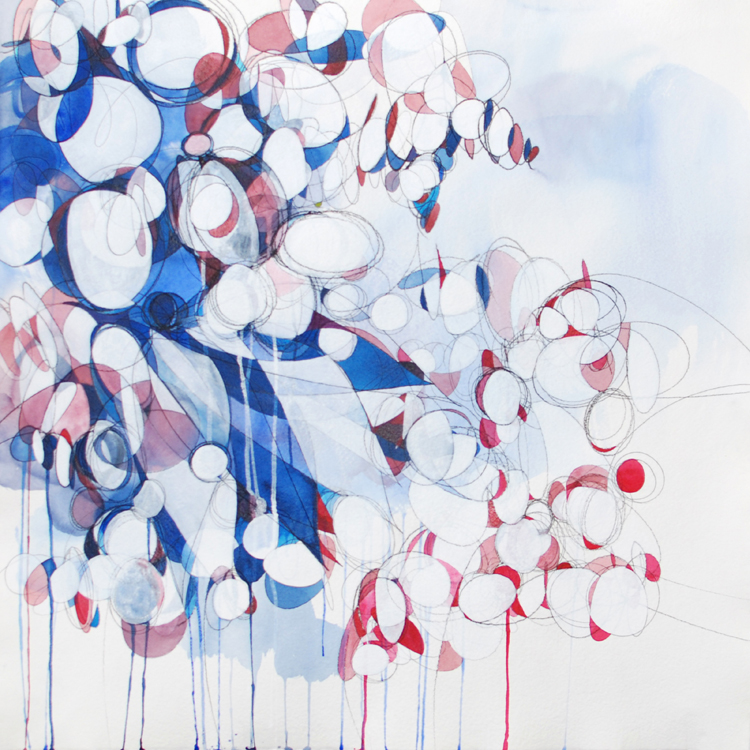 SECOND PLACE: Story 2013, Acrylic and Carbon Transfer Paper by Sarah Irvin (September 2013)
