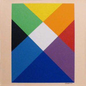 Rainbow 1, Acrylic by Ted J. Ostrowski (September 2013)