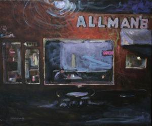 Allman's At Night, Acrylic by Tom Smagala (September 2013)