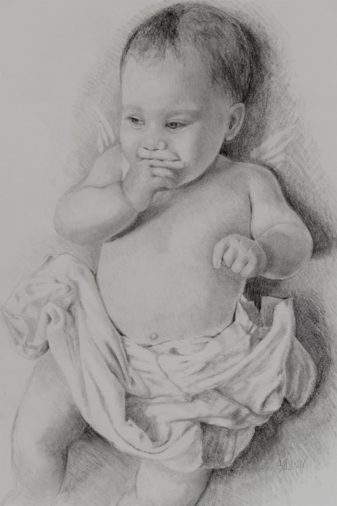 Angel Baby, work by Christine Dixon (MG: June 2018)