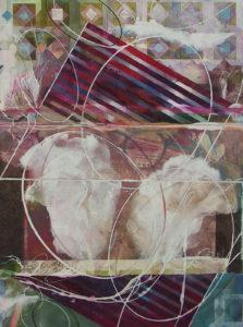 """Master Plan Interruption #5, Watercolor collage by Joseph Di Bella, 39"""" x 31"""", $650 (June 2018)"""