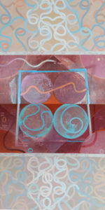 "Mihrab Res Bina, Acrylic on canvas by Joseph Di Bella, 64"" x 32"", $1,050  (June 2018)"