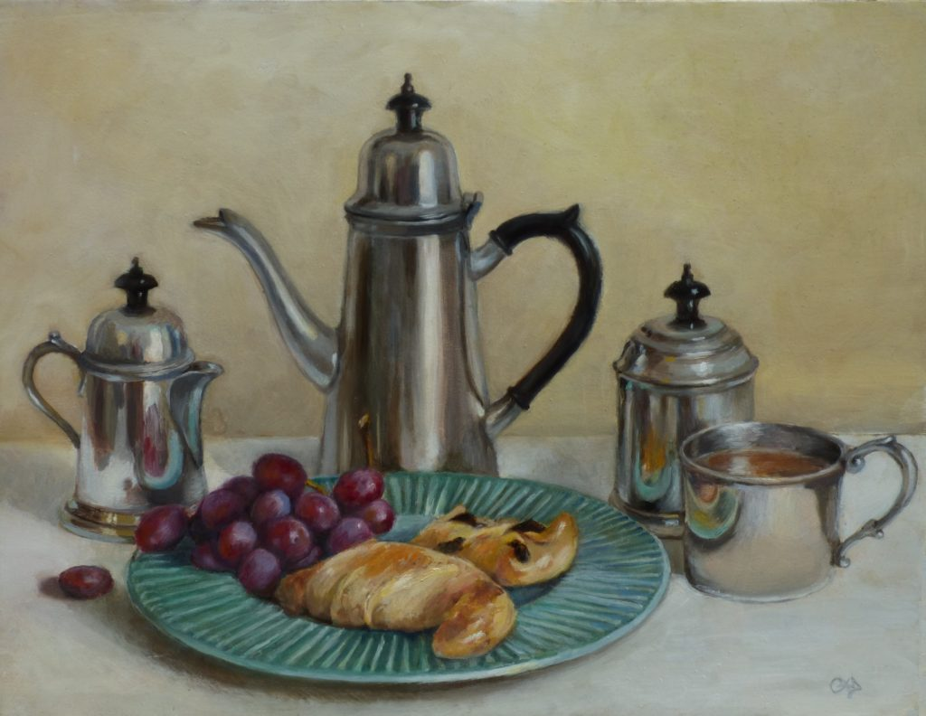 Pewter Tea Service, work by Christine Dixon (MG: June 2018)