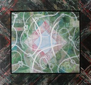 "Sacred and Profane Love I, Acrylic on canvas and Masonite by Joseph Di Bella, 45.5"" x 48"", $800 (June 2018)"