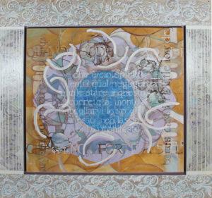"Sacred and Profane Love II, Acrylic on canvas and Masonite by Joseph Di Bella, 45.5"" x 48"", $800 (June 2018)"