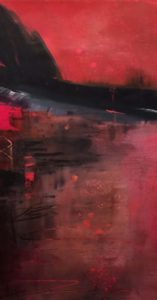 Dark Bluff, Acrylic by Barbara Taylor Hall, 21in x 11in, $400 (July 2018)