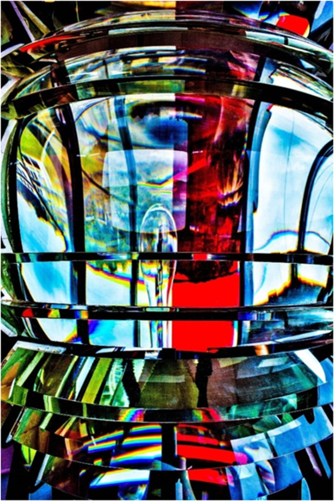 HONORABLE MENTION: Fresnel Lens, Digital Photographic Print by Addison Likins, 36in x 24in, $520 (July 2018)