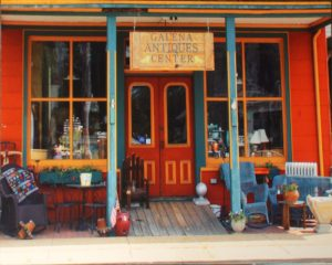 Galena Antiques, Photograph on Metal by Sheila R. Jones, 16in x 20in, $150 (July 2018)