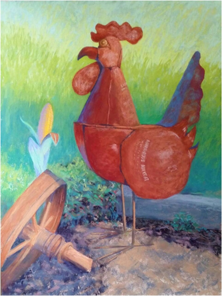 HONORABLE MENTION: M. Poulet., Pastel by Kathy Wiltermire, 24in x 18in, $400 (July 2018)