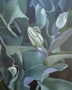 Green Tulips, a painting by Kathy Guzman (MG: April 2013)