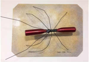 Bottle Bug, Wall Mounted Sculpture by Addison Likens, 30in x 40in x 10in, $920 (August 2018)