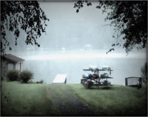 Canoes in the Mist, Photography by Becki Heye, 11in x 14in, $100 (August 2018)