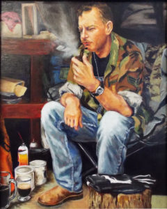 Civilian Life, Oil on Board by Delana Chandler, 16in x 20in, $350 (August 2018)