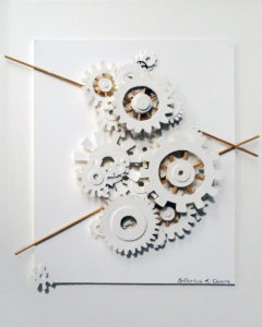 Gear Up, Paper Construction by Katharine K Owens, 20in x 16in, $650 (August 2018)