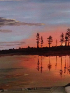 Wetlands Sunset by Collette Caprara (CBTC June-Sept 2018)