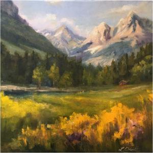 Alpine Pass, Oil by Lynn Abbott, 20in x 20in, $1000 (September 2018)