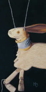 The White Rabbit, work by Betsy Kellum, 24x12 (October 2018)