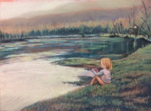 Gone Fishing, work by Vickie Knick, 9.5x12.5 (October 2018)