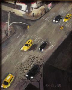 Untitled 2018, Oil on Board by Caroline Murphy Smalley, 10in x 8in, $220 (September 2018)