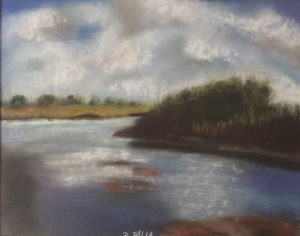 Calm of the Eve, Pastel by Denise Dalia-Cooper, 11in x 14in, $300 (October 2018)