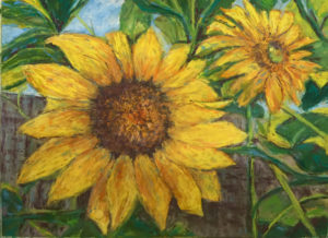 Symbols of Summer, Pastel by Jan Settle, 9in x 12in, $250 (October 2018)