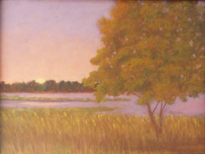 Wetlands at Dusk, Pastel by Kathy Staicer, 12in x 16in, $350 (October 2018)