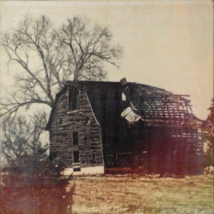 Ramshackle, Mixed Media Photo Encaustic by Sasha Leigh, 18in x 18in, $285 (November 2018)