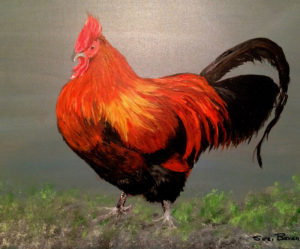 Rusty the Rhode Island Red by Suzi Bevan (CBTC: October 2018)
