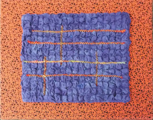 Violet-Orange Study, Textile by Mary Magneson, 11in x 14in, $150 (November 2018)