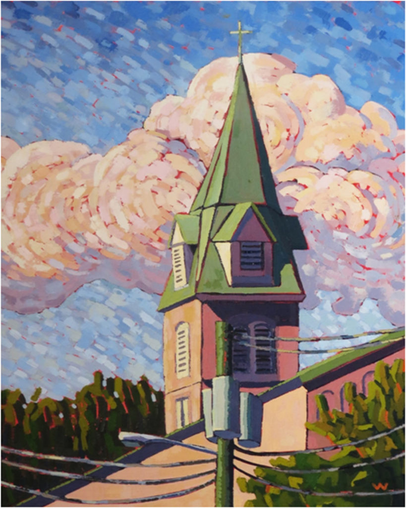 HONORABLE MENTION: St. George's Morning Light, Oil by Joan Wiberg, 20in x 16in, $500 (Dec. 2018-Jan. 2019)