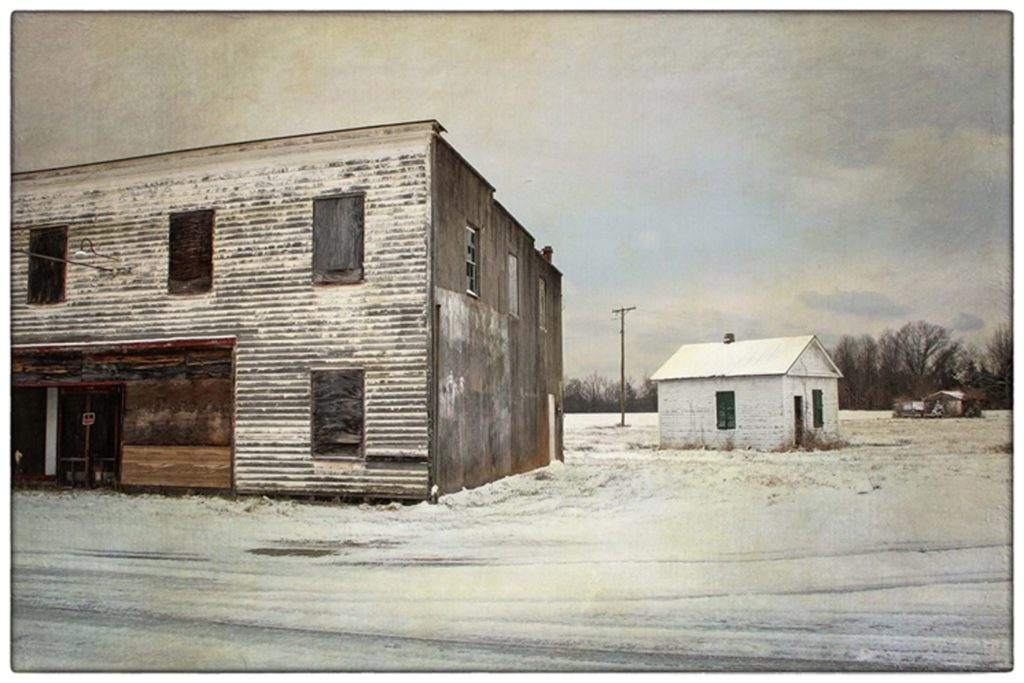 THIRD PLACE: A Woodford Winter, Photography by Fritzi Newton, 12in x 18in, $225 (February 2019)