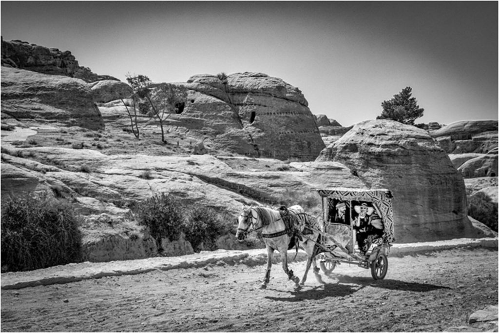HONORABLE MENTION: Petra Taxi, Photography by Matt DeZee, 12in x 18in, $145 (February 2019)