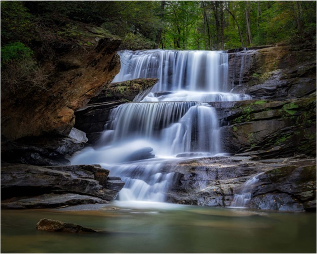 HONORABLE MENTION: Secret Falls, Photography by Renee Martin, 16in x 20in, $220 (February 2019)