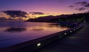 Sunrise over Cairns, Photography by Dorothy Stout, 36in x 61in, $750 (February 2019)