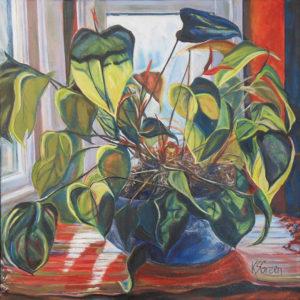 Aubade, Oil by Katherine Sobba Green, 20in x 20in, $425 (April 2019)