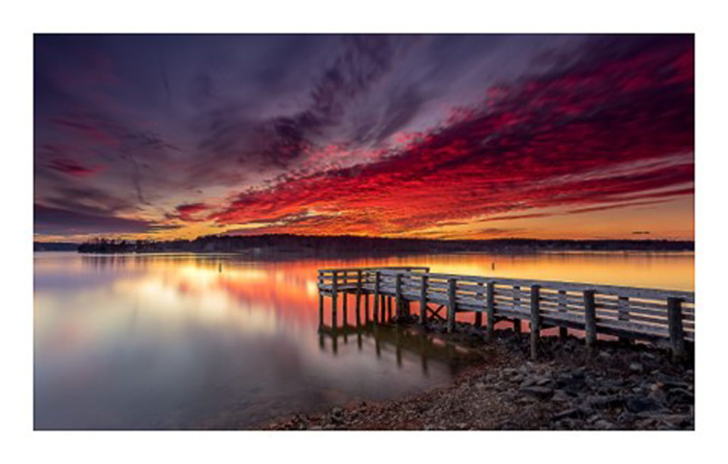 HONORABLE MENTION: Lake Anna Sunset, Photography Fine Art Print by Odell Smith, 14in x 22in, $300 (April 2019)