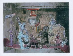 My Goblins, Mixed Media Collage by Teresa Blatt, 8in x 10.5in, $300 (April 2019)