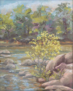 Rapphannock in July, Soft Pastel by Kathleen Willingham, 20in x 16in, $525 (April 2019)