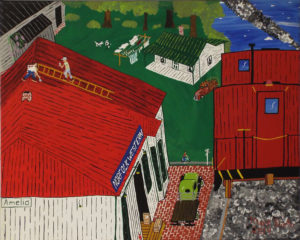 Ameilia Train Station, Acrylic by Mark Prieto,16in x 20in, $425 (May 2019)