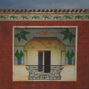 Art Deco Window, Portugal,Archival Metallic Photo by Deborah D. Herndon, 7.75in x 7.75in, $135 (May 2019)