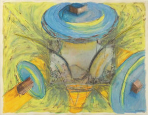 Blue Dumbbells-Hydrant Series, Photo Transfer, Acrylic by David Lovegrove, 12in x 15.5in, $300 (May 2019)