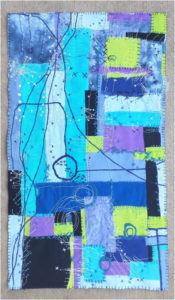 City Planning II, Mixed Media (Cotton and Embroidery) by Maura Harrison, 18in x 10.5in, $150 (May 2019)