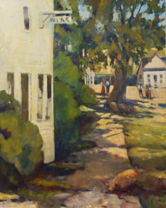 Hog Wild on Washington St., Oil by Marcia Chaves, 24in x 30in, $500 (May 2019)