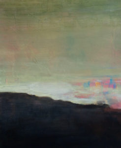 Misty Mountain, Acrylic by Barbara Taylor Hall, 19.5in x 16in, $500 (May 2019)