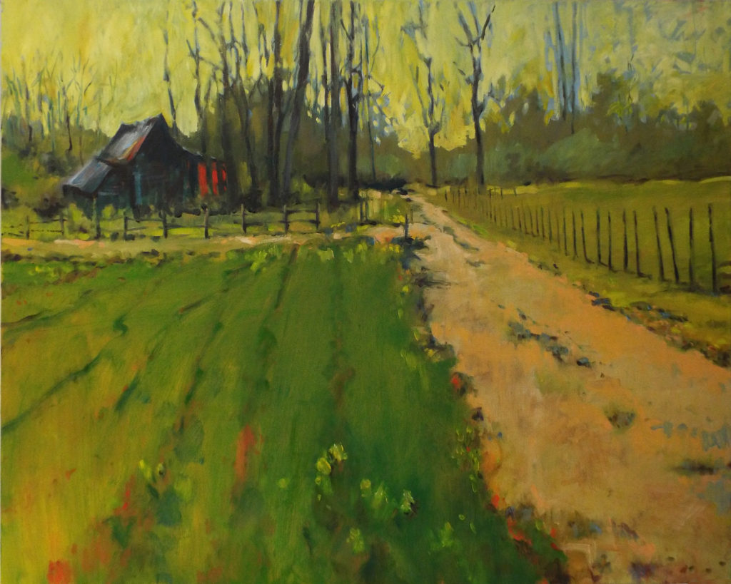 FIRST PLACE: Old Middlesex VA, Oil by Marcia Chaves, 24in x 36in, $800 (May 2019)