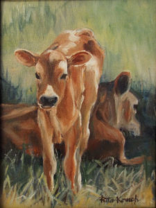 Starting Out, Oils by Rita E. Kovach, 8in c 6in, $50 (May 2019)