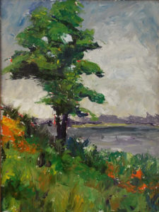 Walnut Tree, Oils on Board by Christena W. Smith, 16in x 12in, $425 (May 2019)